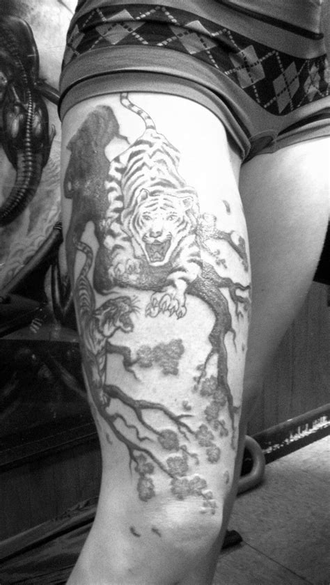 22 best White Tiger Tattoo On Thigh images on Pinterest   White tiger tattoo, Thigh tattoos and