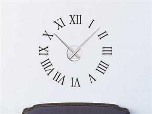 Römische Zahlen Uhr : wandtattoo r mische zahlen wanduhr r mische zahlen wandtattoo bei ~ Orissabook.com Haus und Dekorationen