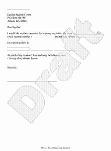 Letter For Application For Loan Credit Freeze Letter Template Security Request For
