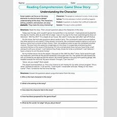 Reading For Comprehension Jason And The Game Show  Worksheet Educationcom