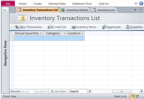 access inventory template   access documents