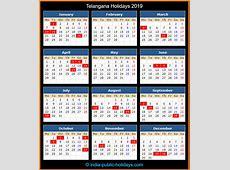 Telangana Holidays 2019