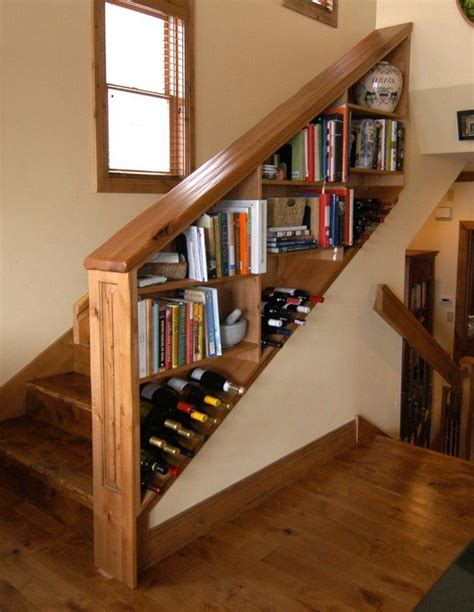 Stairs Shelf Ideas For Book Storage by Custom Made Wine Shelf Bookcase Railing For Staircase
