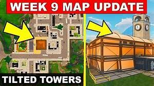 FORTNITE WEEK 9 LEAK MAP UPDATE NEW BUILDING IN TILTED