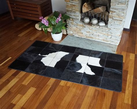 Rugs Home Decorators Collection: Black And White Cowhide Patchwork Rug