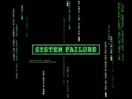 system failure  technology background wallpapers
