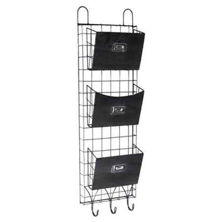 Cheungs Wire Wall Storage With Hooks Baskets