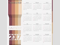 2017, 2018, 2019 calendar template Vector CdrAi