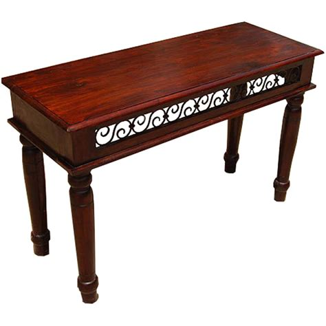 wooden iron accent sofa foyer table console table
