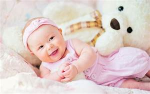 Cute Baby With Teddy Bear, HD Cute, 4k Wallpapers, Images ...