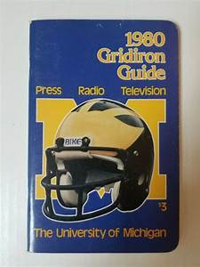 Vintage Michigan Football 1980 Gridiron Guide