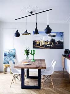 Lustre Pour Salle à Manger : suspension luminaire salle manger lustre noir ~ Teatrodelosmanantiales.com Idées de Décoration