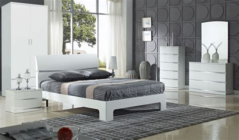 Arden High Gloss White Bedroom Set  City Furniture Shop