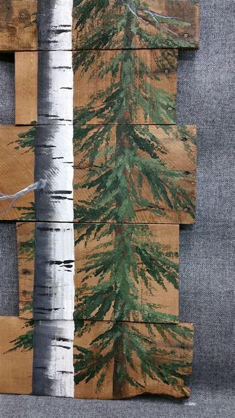 cardinal  pine tree tall white birch  cardinal