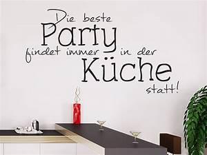 Sprüche Für Die Küche : wandtattoo partyk che die beste party findet ~ Watch28wear.com Haus und Dekorationen