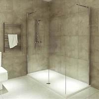 interesting walk in corner shower Beige Textured Wall Design With Corner Walk In Shower Unit ...