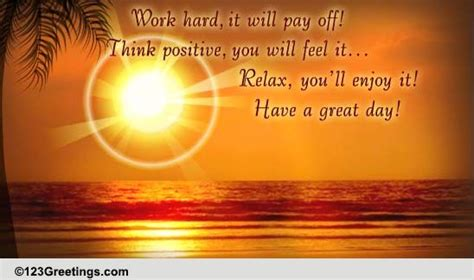 positive  relax    great day ecards
