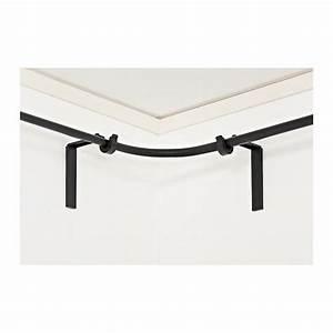 Racka curtain rod corner connector black ikea dining for Curtain rod brackets for corners