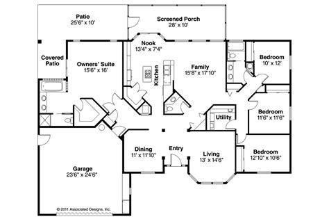 mediterranean home floor plans mediterranean house plans bryant 11 024 associated designs
