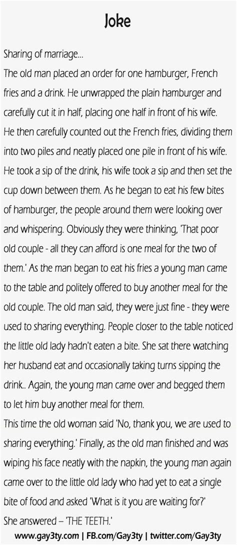 Sharing of marriage – Funny Joke | Wedding speech quotes