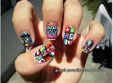 Flags nail art how you can do it at home Pictures