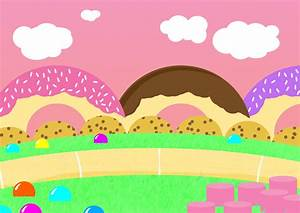Candyland Border Cake Ideas and Designs