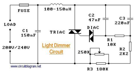 Light Dimmer Circuit Schematic