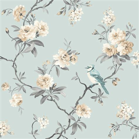 grey and yellow room decor decor chic floral chinoiserie bird wallpaper in grey