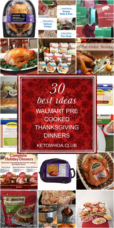 Make a timeline that includes specific start times for food prep, cooking, and serving. 30 Best Ideas Walmart Pre Cooked Thanksgiving Dinners ...