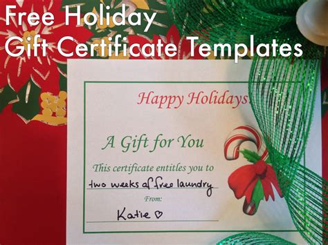 holiday gift certificates templates  print hubpages