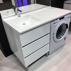 meuble vasque a droite kora 124 ll d blanc hors ll With porte d entrée alu avec meuble salle de bain 80 cm sans vasque