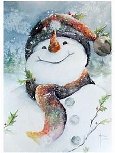 snowman watercolor illustration Google Search