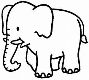 Imagenes De Elefantes Animados Para Colorear Imagui