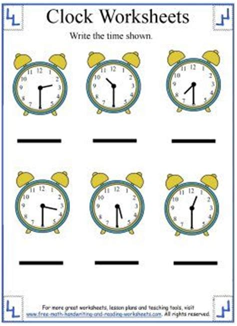 14 best telling time worksheets images on the