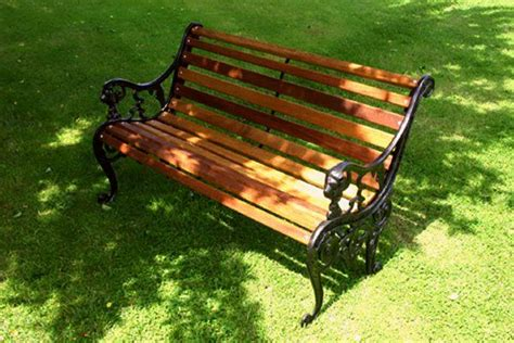 replacement wood slats for cast iron bench diy garden bench restoration kits for the uk arbc