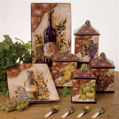 wine kitchen canisters ceramic tableware