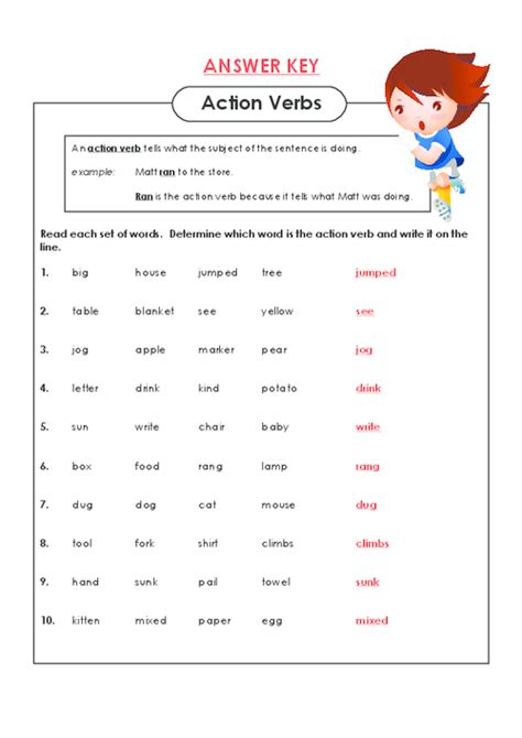 Action Verb Worksheets For 1st Grade  1000 Ideas About Verbs Activities On Pinterest Action