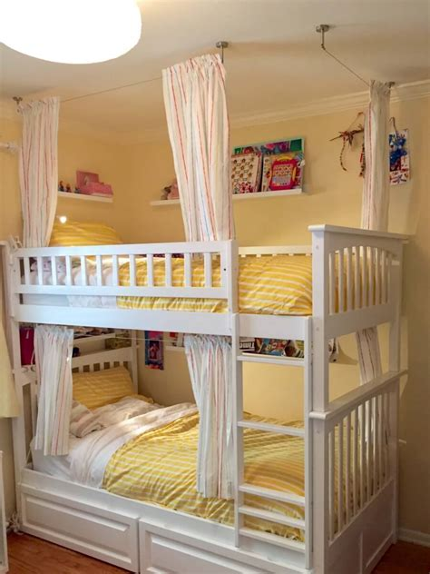 Bunk Bed Drapes - lightweight and breathable bunk bed curtains ikea hackers