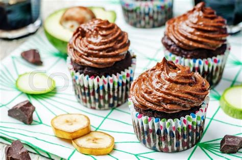 chocolate zucchini cupcakes with peanut butter frosting chocolate zucchini banana cupcakes with chocolate avocado banana peanut butter cream frosting