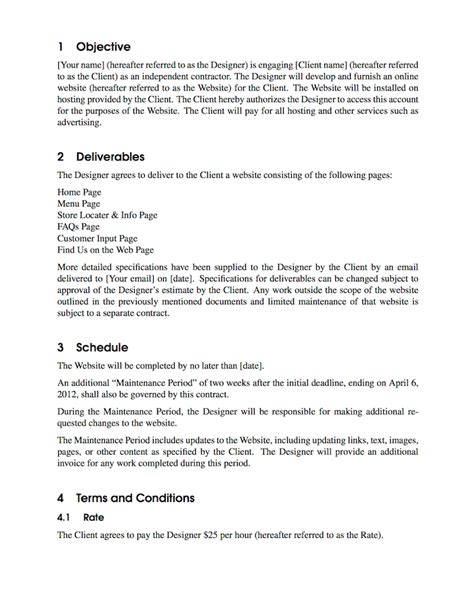 Contract Signature Page Template Uk by Latex Templates 187 Contract
