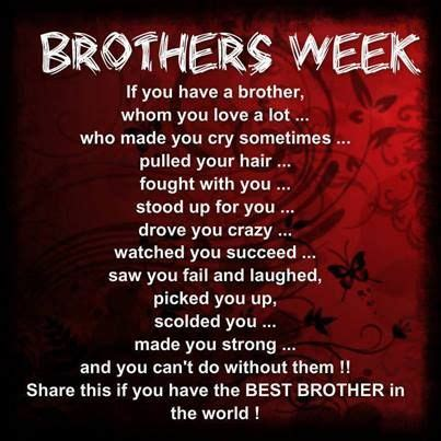 brothers week   national brothers day lands