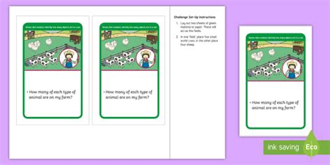 * New * Eyfs Maths Counting Challenge Counting Farm Animals