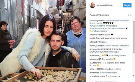 Dolce E Gabbana Ufficio Sta - bari la modella di dolce e gabbana sfila tra orecchiette
