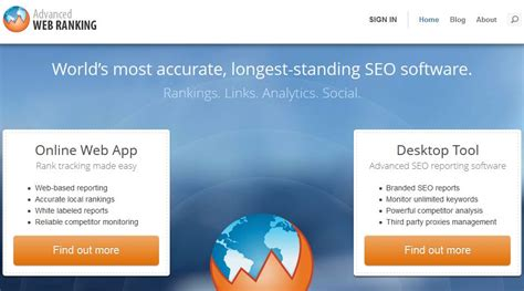 Website Ranking by Keyword Ranking Tracking Tools Free And Paid
