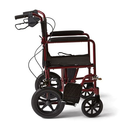 medline transport wheelchair with brakes
