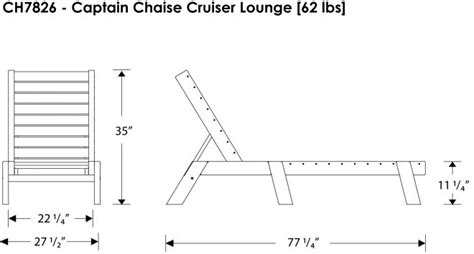 captain s chaise lounge recycled outdoor furniture ch7826
