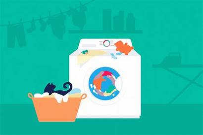 Washing Machine Clothes Machines Laundry Animation Clean