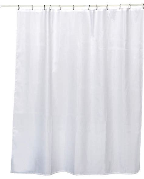 honeycomb fabric shower curtain polyester white