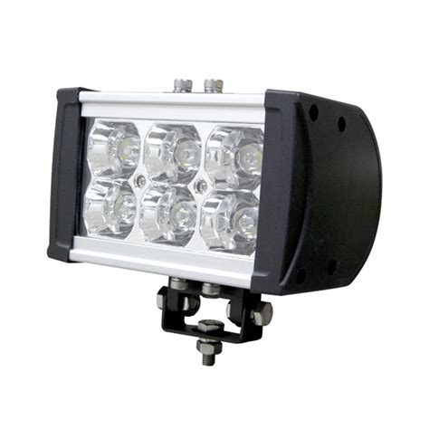 rugged series led light bar 6 inch 18 watt spot all
