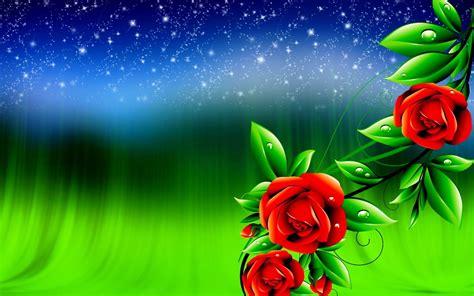 Rose Flowers Digital Design 3d Wallpapers  New Hd